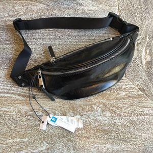 Treasure & Bond Mason Glazed Leather Belt Bag